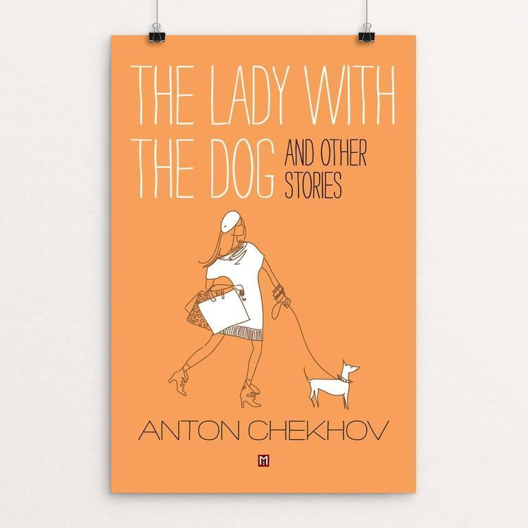 "The Lady with the Dog and Other Stories by Ed Gaither 12"" by 18"" Print / Unframed Print Recovering the Classics"