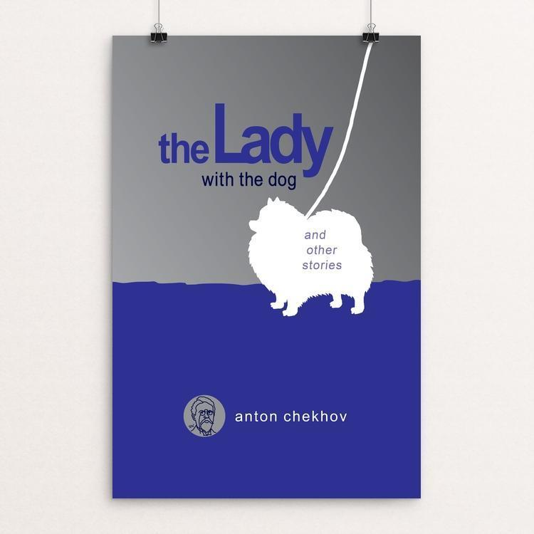 "The Lady with the Dog and Other Stories by Robert Wallman 12"" by 18"" Print / Unframed Print Recovering the Classics"
