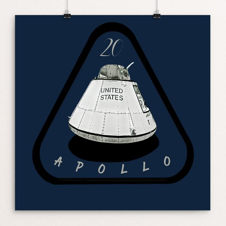 "The Last Apollo Mission by Bryan Bromstrup 12"" by 12"" Print / Unframed Print Space Horizons"