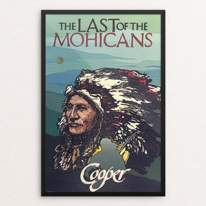 "The Last of the Mohicans by Darius Quarles 12"" by 18"" Print / Framed Print Recovering the Classics"