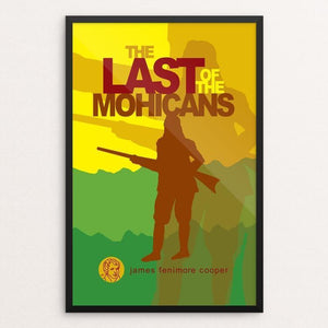 "The Last of the Mohicans by Robert Wallman 12"" by 18"" Print / Framed Print Recovering the Classics"