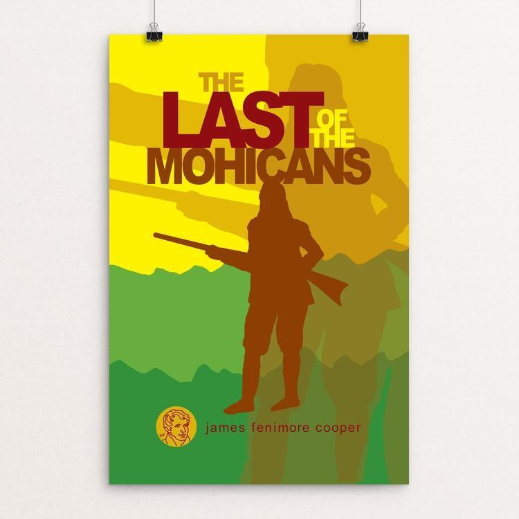 "The Last of the Mohicans by Robert Wallman 12"" by 18"" Print / Unframed Print Recovering the Classics"