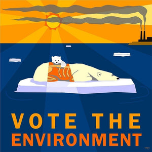 "The Last Polar Bear by Melissa Taub 12"" by 12"" Print / Unframed Print Vote the Environment"