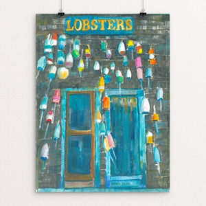 "The Lobster Shack: A Coastal Maine Icon by Hannah Ineson 12"" by 16"" Print / Unframed Print Creative Action Network"
