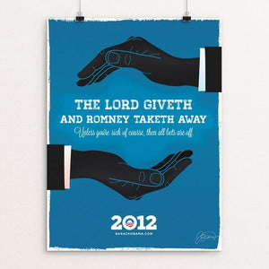 "The Lord Giveth by James Nesbitt 12"" by 16"" Print / Unframed Print Design For Obama"