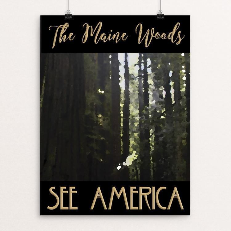 "The Maine Woods by Sheri Emerson 12"" by 16"" Print / Unframed Print See America"