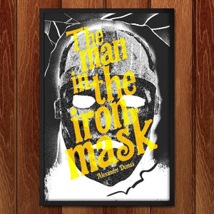 "The Man in the Iron Mask by Justin Morales 12"" by 18"" Print / Framed Print Recovering the Classics"