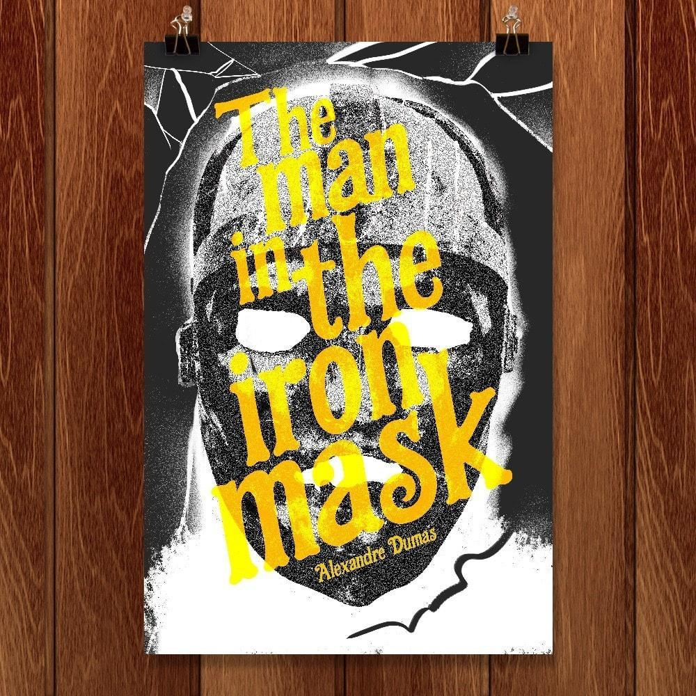 "The Man in the Iron Mask by Justin Morales 12"" by 18"" Print / Unframed Print Recovering the Classics"