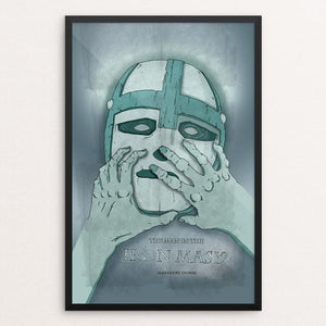 "The Man in the Iron Mask by Katie Wagner 12"" by 18"" Print / Framed Print Recovering the Classics"