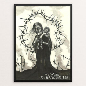 "The Martyrs by Thomas Kefalas 12"" by 16"" Print / Framed Print We Were Strangers Too"