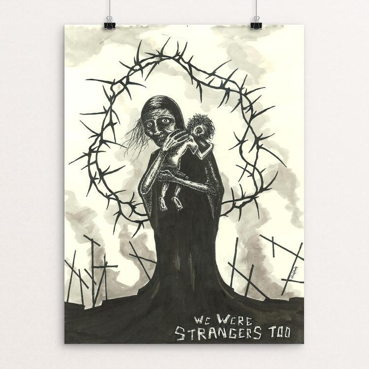 "The Martyrs by Thomas Kefalas 12"" by 16"" Print / Unframed Print We Were Strangers Too"
