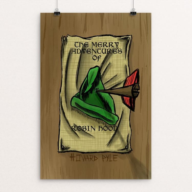 "The Merry Adventures of Robin Hood by Guillermo Guzman 12"" by 18"" Print / Unframed Print Recovering the Classics"