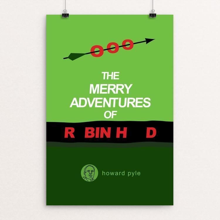 "The Merry Adventures of Robin Hood by Robert Wallman 12"" by 18"" Print / Unframed Print Recovering the Classics"