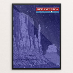 "The Mittens, Monument Valley by Brixton Doyle 12"" by 16"" Print / Framed Print See America"