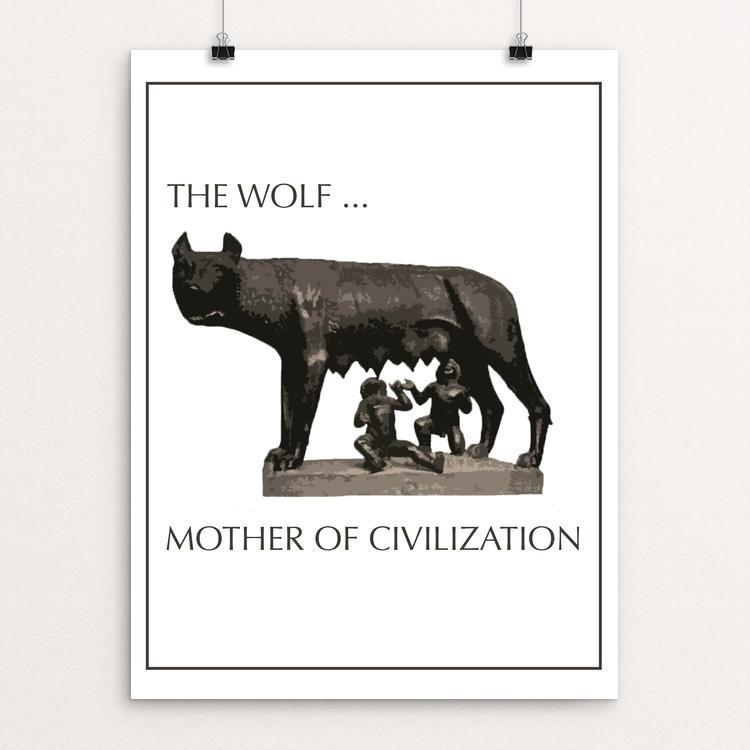 "The Mother Wolf by Rex Shermock 12"" by 16"" Print / Unframed Print Join the Pack"