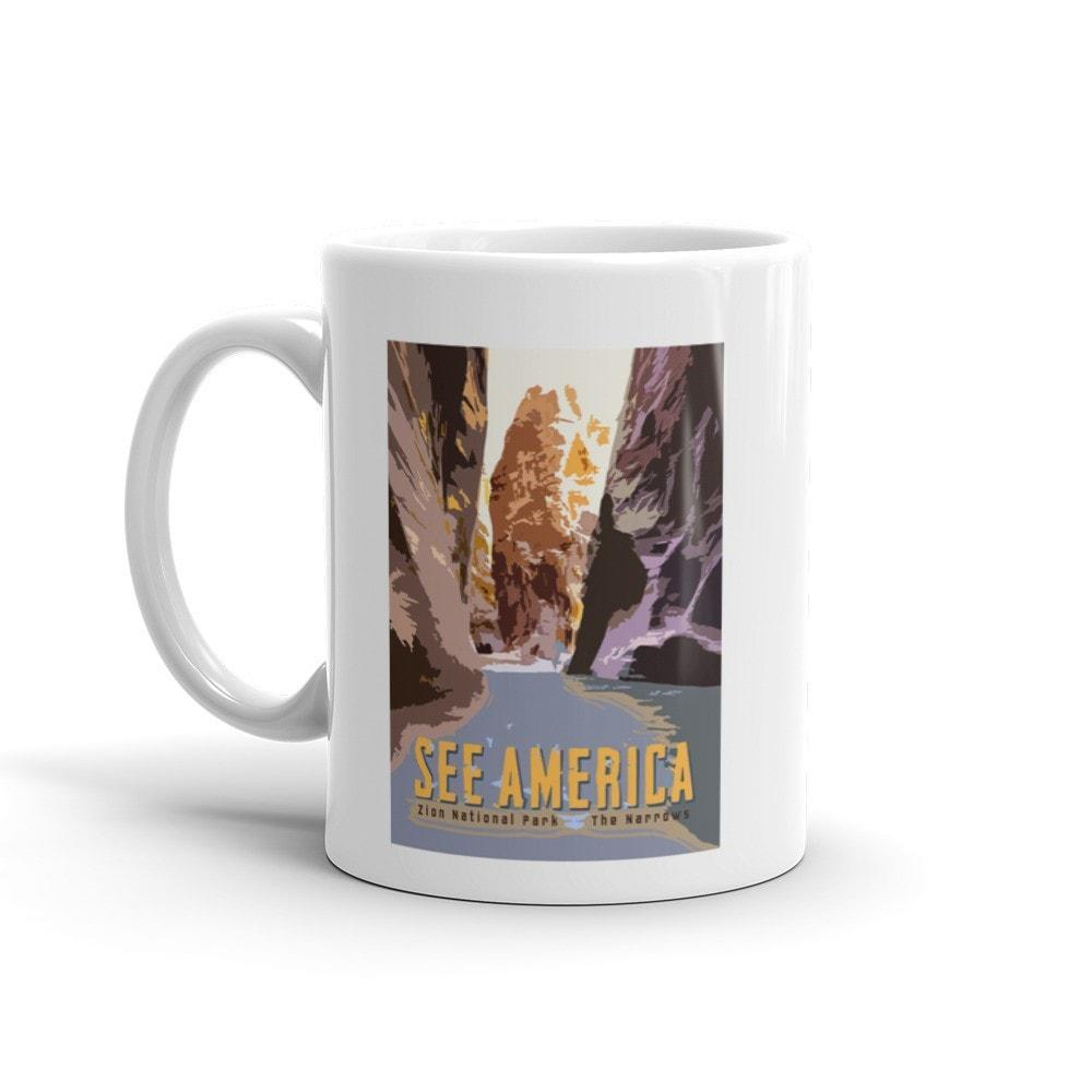 The Narrows, Zion National Park Mug by Tom Jennus 15oz Mug See America