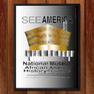 "The National Museum of African American History & Culture by Ginnie McKnight 12"" by 16"" Print / Framed Print See America"