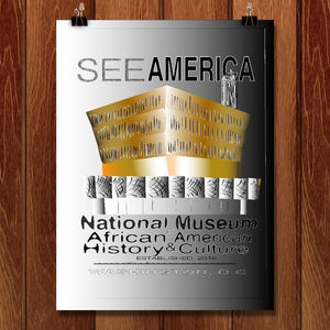 "The National Museum of African American History & Culture by Ginnie McKnight 12"" by 16"" Print / Unframed Print See America"