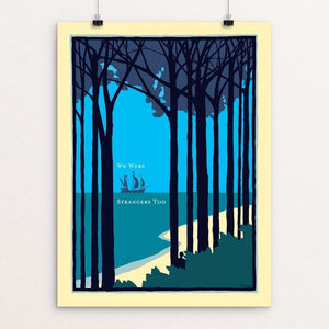 "The New World by Jonathan Scheele 12"" by 16"" Print / Unframed Print We Were Strangers Too"
