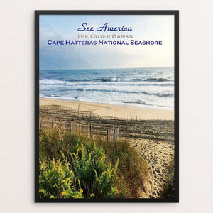 "The Outer Banks, Cape Hatteras National Seashore by Bryan Bromstrup 12"" by 16"" Print / Framed Print See America"