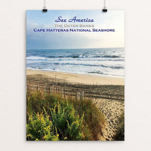 "The Outer Banks, Cape Hatteras National Seashore by Bryan Bromstrup 12"" by 16"" Print / Unframed Print See America"