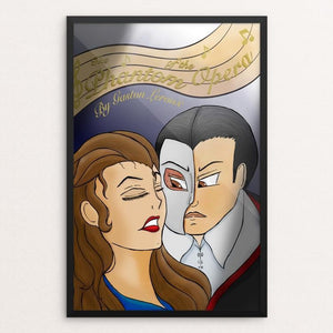 "The Phantom of the Opera by Chandler Johnson 12"" by 18"" Print / Framed Print Recovering the Classics"