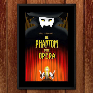"The Phantom of the Opera by Diana Barron 12"" by 18"" Print / Framed Print Recovering the Classics"