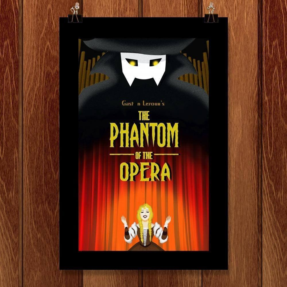"The Phantom of the Opera by Diana Barron 12"" by 18"" Print / Unframed Print Recovering the Classics"
