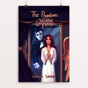 "The Phantom of the Opera by Penpitcha Kruekuenpet 12"" by 18"" Print / Unframed Print Recovering the Classics"