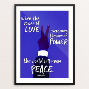 "The Power of Peace by Lynne Smyers 12"" by 16"" Print / Framed Print Creative Action Network"