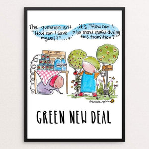 "The Question by Brenna Quinlan 18"" by 24"" Print / Framed Print Green New Deal"