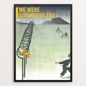 "The Refugee by Anthony Foronda 12"" by 16"" Print / Framed Print We Were Strangers Too"