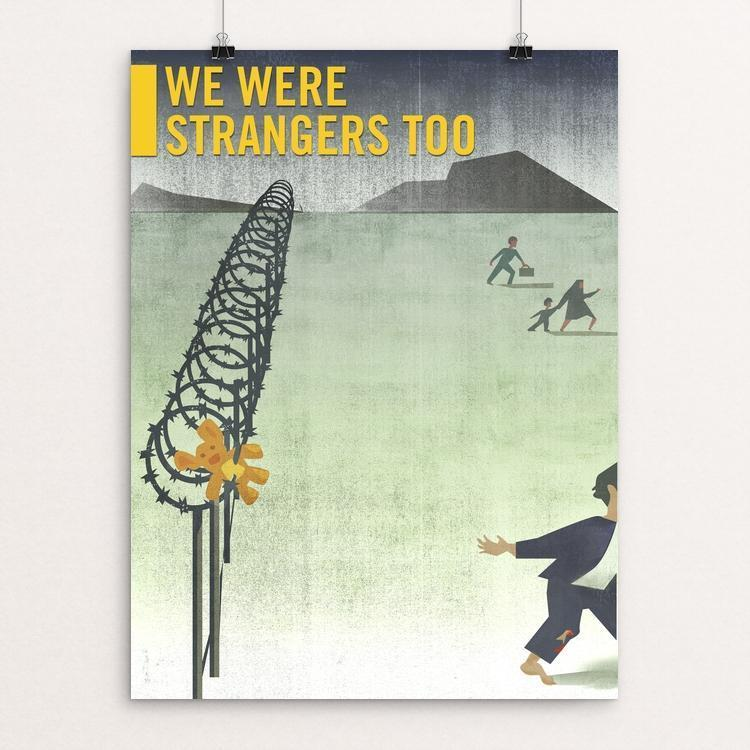 "The Refugee by Anthony Foronda 12"" by 16"" Print / Unframed Print We Were Strangers Too"