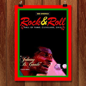 "The Rock & Roll Hall of Fame by Bob Rubin 18"" by 24"" Print / Unframed Print See America"