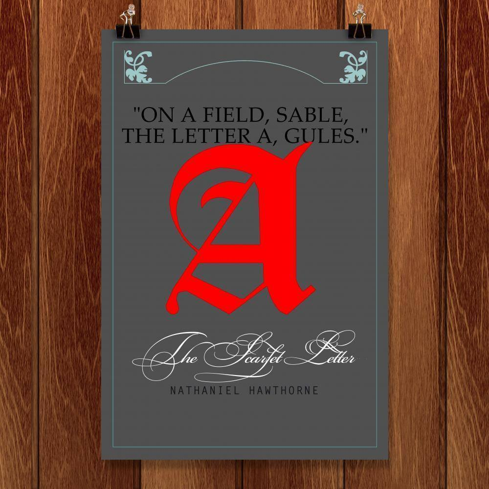 "The Scarlet Letter 3 by Bob Rubin 12"" by 18"" Print / Unframed Print Recovering the Classics"