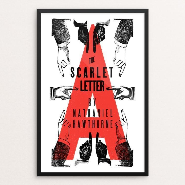 The Scarlet Letter By Mr Furious 12 18 Print Framed