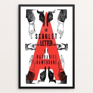 "The Scarlet Letter by Mr. Furious 12"" by 18"" Print / Framed Print Recovering the Classics"