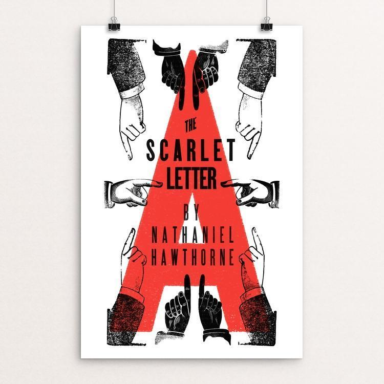 "The Scarlet Letter by Mr. Furious 12"" by 18"" Print / Unframed Print Recovering the Classics"