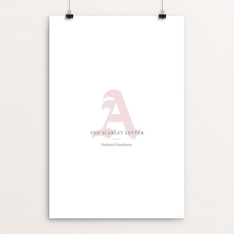 "The Scarlet Letter by Patrick Hayslip 12"" by 18"" Print / Unframed Print Recovering the Classics"