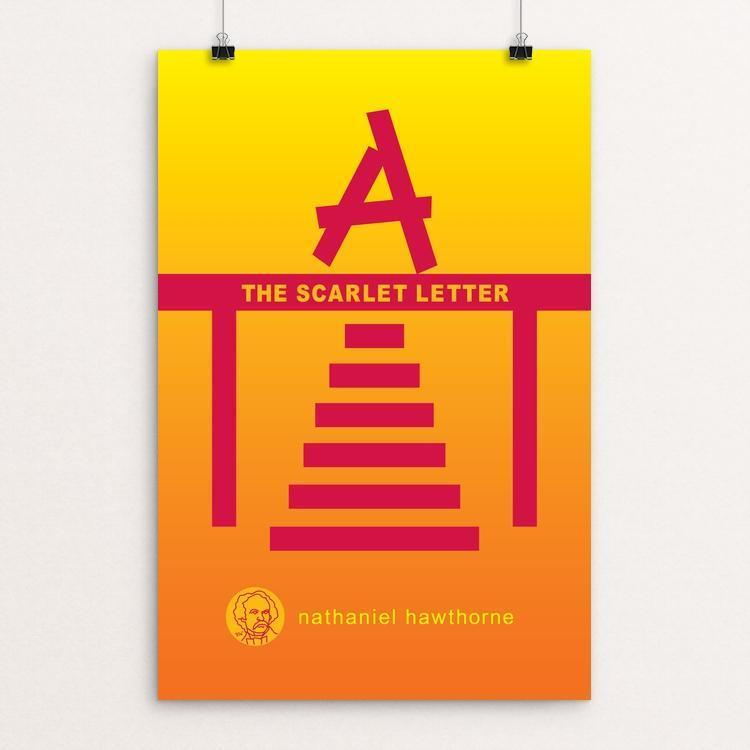 "The Scarlet Letter by Robert Wallman 12"" by 18"" Print / Unframed Print Recovering the Classics"