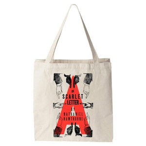 The Scarlet Letter Tote Bag by Mr. Furious Tote Bag Recovering the Classics