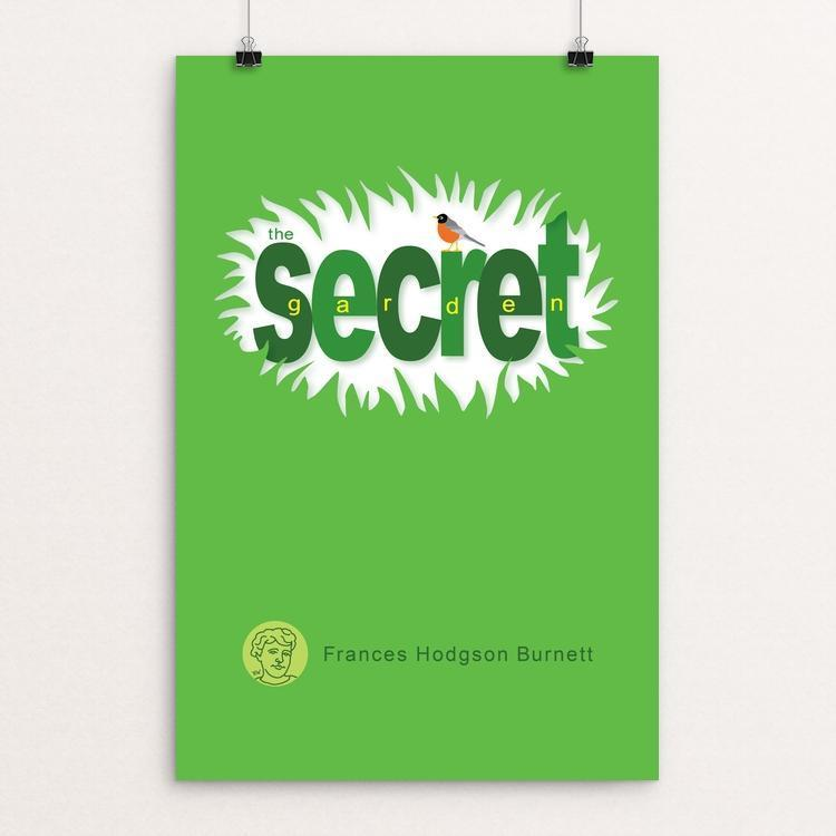 "The Secret Garden by Robert Wallman 12"" by 18"" Print / Unframed Print Recovering the Classics"