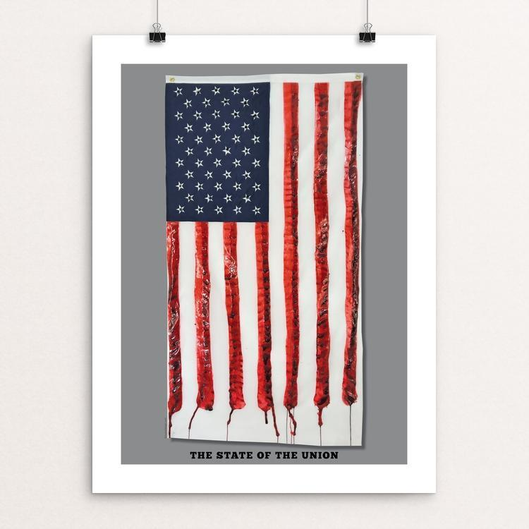 "The State of the Union by Lynne Smyers 12"" by 16"" Print / Unframed Print Creative Action Network"