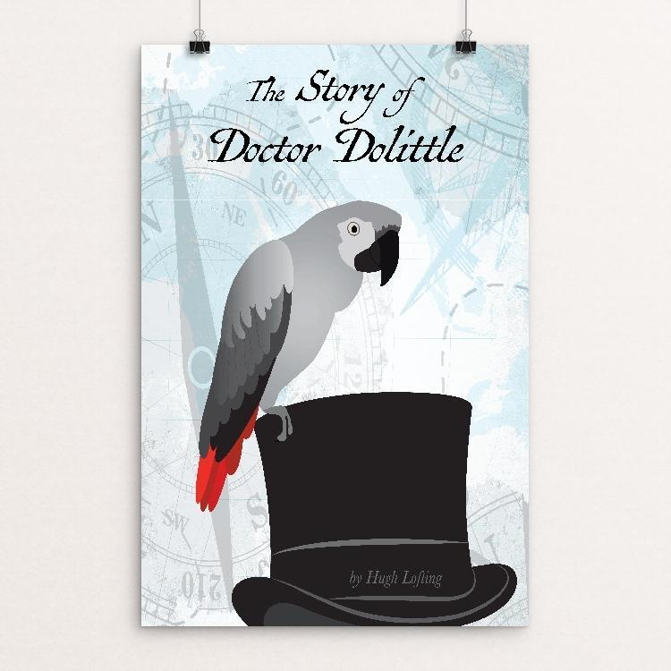 "The Story of Doctor Dolittle by Karri Owens 12"" by 18"" Print / Unframed Print Recovering the Classics"