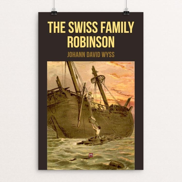 "The Swiss Family Robinson by Ed Gaither 12"" by 18"" Print / Unframed Print Recovering the Classics"