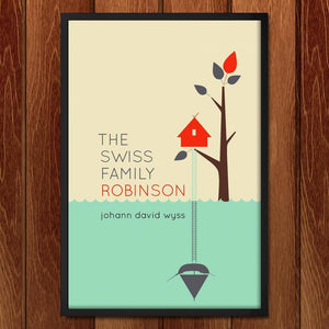 "The Swiss Family Robinson by Liza Donovan 12"" by 18"" Print / Framed Print Recovering the Classics"