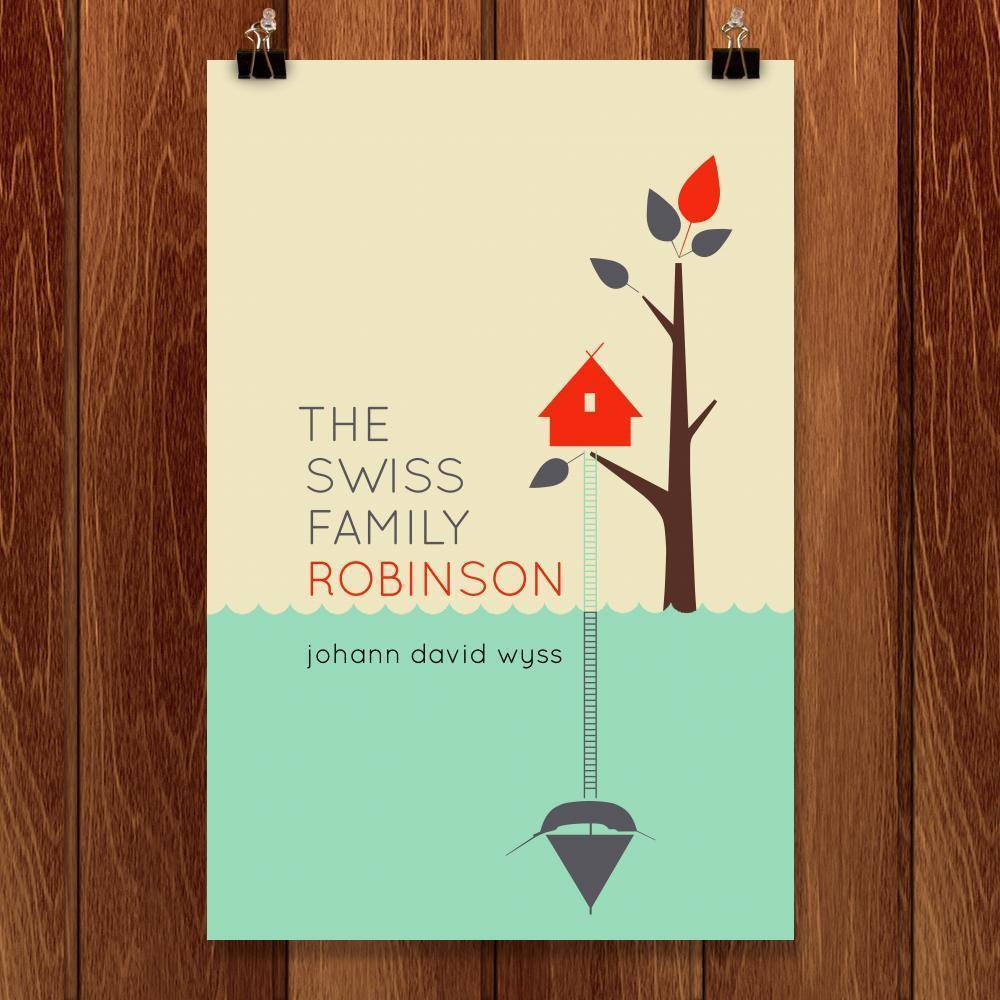 "The Swiss Family Robinson by Liza Donovan 12"" by 18"" Print / Unframed Print Recovering the Classics"