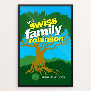 "The Swiss Family Robinson by Robert Wallman 12"" by 18"" Print / Framed Print Recovering the Classics"
