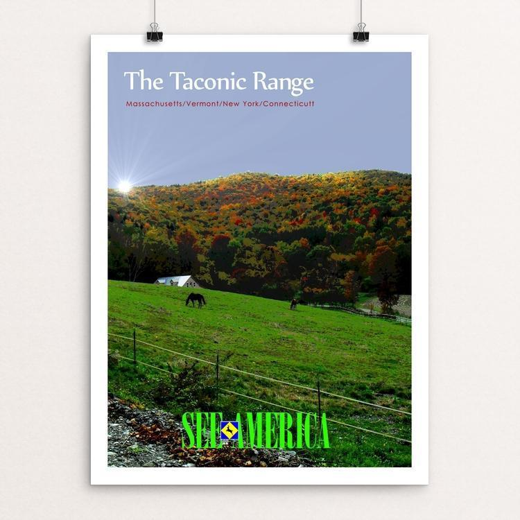 "The Taconic Range 5 by Bob Rubin 18"" by 24"" Print / Unframed Print See America"