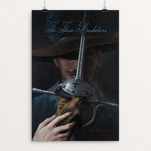 "The Three Musketeers by Philip Taylor 12"" by 18"" Print / Unframed Print Recovering the Classics"
